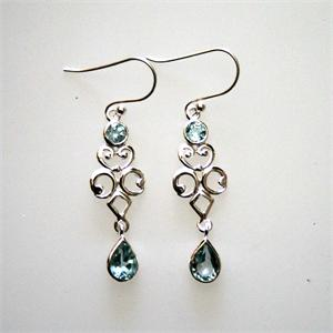 Silver and Blue Topaz Earrings4