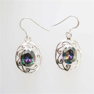 Silver and Mystic Topaz Earrings2