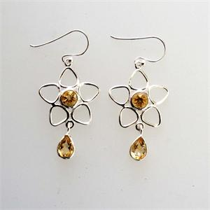 Silver and Citrine Earrings3
