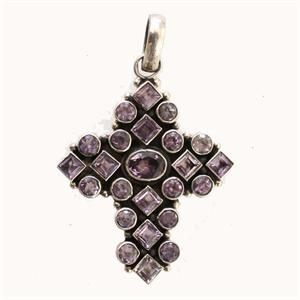 Silver and Amethyst Cross2