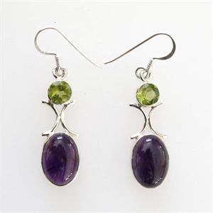 Silver and Amethyst Earrings6