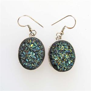 Silver and Druzy Earrings	4