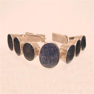 Sapphire and 925 Sterling Silver Bracelet Hand Made