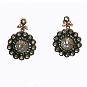 Vermeil and CZ Earrings