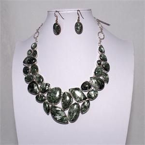 Seraphinite Jewelry Set