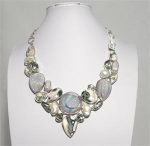 Multistone and  Silver Necklace 4