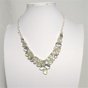 Multistone and  Silver Necklace 5