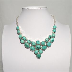 Turquoise and Silver Necklace 3