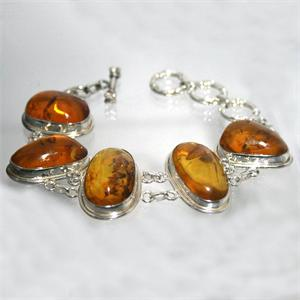 Honey Amber and Silver Bracelet 3