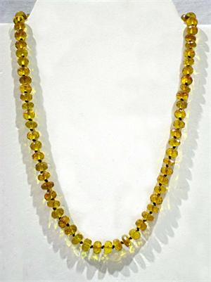Amber Necklace Faceted Honey Color 2