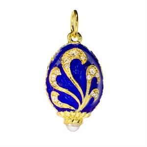 Egg with Leaves Pendant