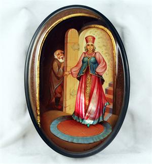 Russian Lacquer Box The Russian Beauty from Fedoskino