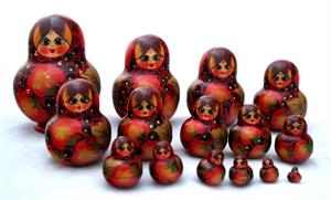 Strawberry Miniature Matryoshka Nesting Doll