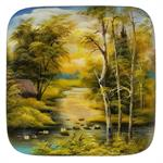 Russian Lacquer Box Forest Summer Scenery
