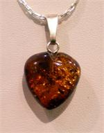 Baltic Amber Heart Pendant from Lithuania
