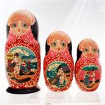 Russian Matryoshka Nesting Doll The Golden Fish by Romanov 2