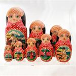 Russian Matryoshka Nesting Doll The Golden Fish by Romanov 3