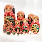 Russian Matryoshka Nesting Doll The Golden Fish by Romanov 4