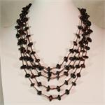 Baltic Amber Cherry Color Necklace Multistrand