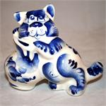 Cat with  Milk Jar Figurine