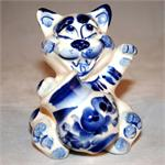 Cat with Jar Figurine 2