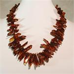 Cognac Colored Baltic Amber Necklace from Lithuania