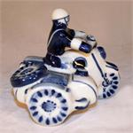 Highway Patrol Figurine handpainted ceramic figurine