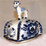 Box for Butter handpainted ceramic figurine