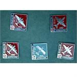Vintage set of Soviet Aviation Pins