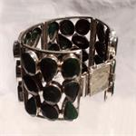 Emerald and 925 Sterling Silver Bracelet 2