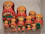 Swan and Geese Russian Matryoshka Nesting Doll 15 Nest 6