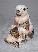 Russian Wooden Polar Bear Carving by Galina
