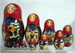 Russian Winter Matryoshka Nesting Doll by Kovalyova form Sergiev Posad 3