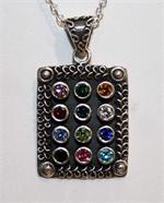Cubic Zirconia and Sterling Silver Pendant