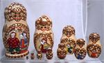 Happy Children Matryoshka Nesting Doll from Sergiev Posad Russia 3