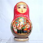 On the Bench Matryoshka Nesting Doll from Sergiev Posad Russia
