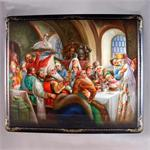 Russian Lacquer Box Boyars Wedding by Pershina from Fedoskino Village