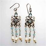 Silver and Blue Topaz Earrings2