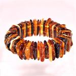 Multi Color Amber Stretch Bracelet Hand Made in Lithuania