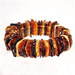 Multi Color Amber Stretch Bracelet Hand Made in Lithuania 2