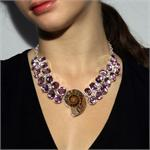 Ammonite and  Amethyst  Necklace