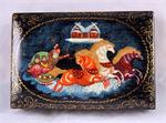 Russian Lacquer Box Winter Troika from Village Palekh