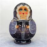 Russian Matryoshka Nesting Doll Woman with Necklace by Russian Artist