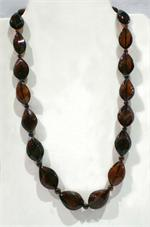 Cherry Amber Faceted Necklace