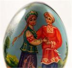 Russian Wooden Egg The Couple View 3