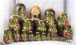 Paintings from the Tretyakov Gallery Matryoshka Nesting Doll Back View