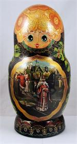 Paintings from the Tretyakov Gallery Matryoshka Nesting Doll Front Close Up