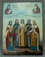 Antique Russian Icon - Selected Saints