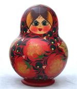 Strawberry Miniature Matryoshka Nesting Doll Close Up
