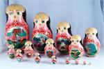 The Swan and Geese Fairy Tale Russian Matryoshka Nesting Doll Front View